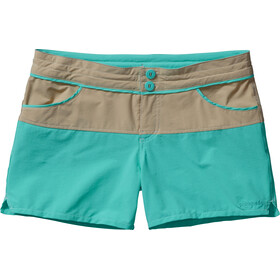 Patagonia W's Colorblock Stretch Wavefarer Shorts El Cap Khaki